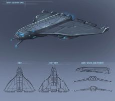 Neon ship design for possible sci-fi web series by anthon500