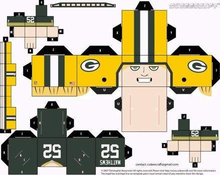 Clay Matthews Packers Cubee by etchings13