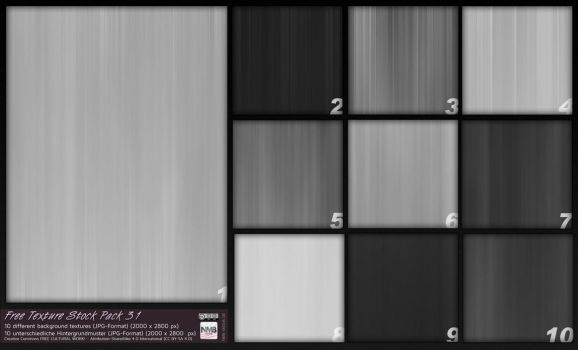 Texture Stock Pack 31 - Black 'n' White by Hexe78