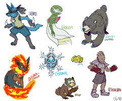 --+ Poke Redesigns + Fusions