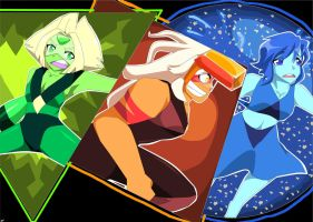 Peridot, Jasper, and Lapis by Artfrog75