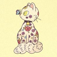 Floral Cat3 by asmithart