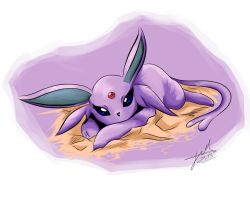 Espeon by Wolfais