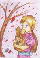 Autumn bread color pencil by Prafa-AR