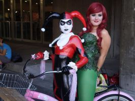 Harley Quinn and Poison Ivy by pikaman206