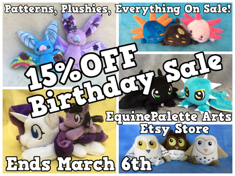 Etsy Birthday Sale! by equinepalette