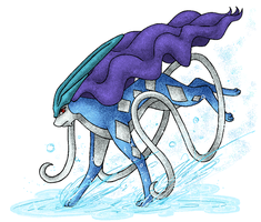 Paint - Suicune by Rukaria