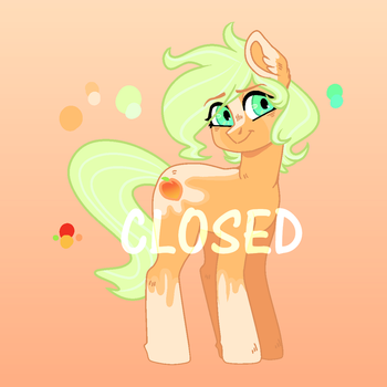 40 Point Adopt - Peachy Patch (CLOSED) by StarletKei