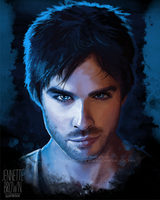 Damon Salvatore by sugarpoultry