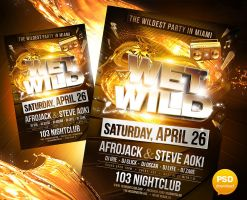 Wet and Wild Party Flyer Template by Party-Flyer