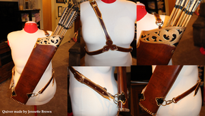 Leather Fantasy Quiver by sugarpoultry