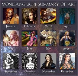 2014 Summary of Art by Monica-NG