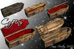 Coffins for Halloween by Stock-by-Dana
