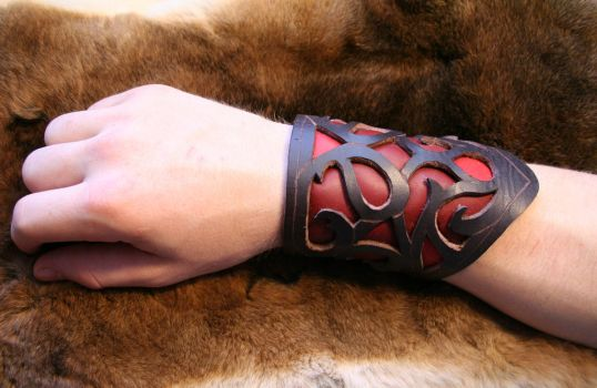 Leather Bracer by T-y-v-e-n