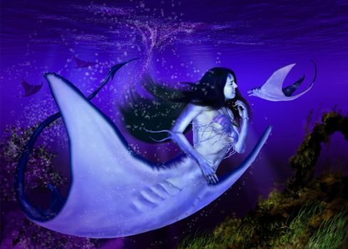 Manta Ray Mermaid by daleziemianski