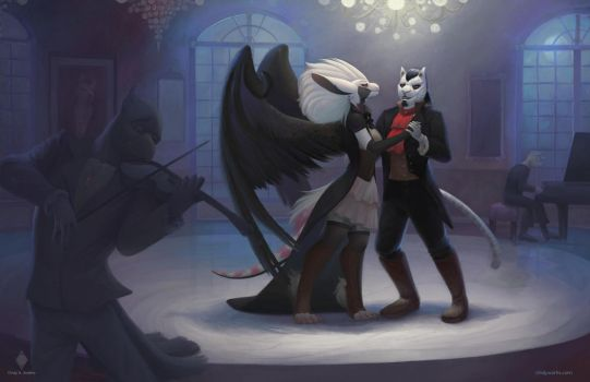 Shall I have the honor of dancing  with you? by CindyWorks