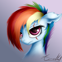 Alternate Future Rainbow Dash (Commission) by AurelleahFreefeather
