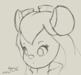 Gadget Hackwrench (sketch) by icefairy64