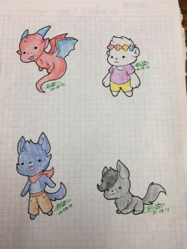 Chibified Buddies 1 by PenWingStar