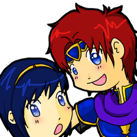 Marth and Roy Chibis by xmoonlitxdreamx