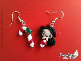 Sugar Stick Girl! - Earrings by AyumiDesign