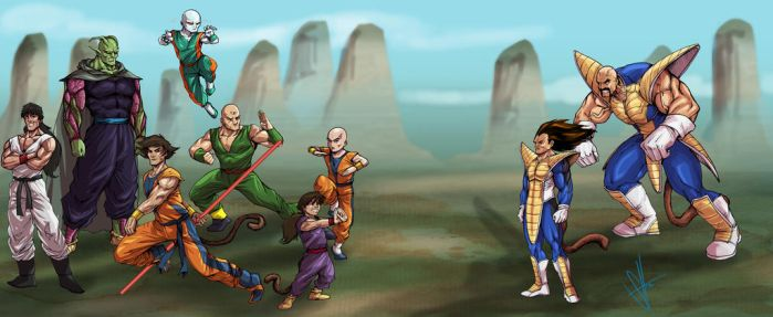 Re-Imagination of DragonBall Z Saiyan Saga by scottssketches
