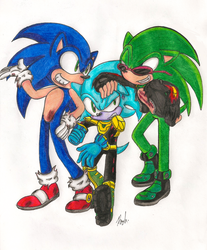 PC:Sonic Scourge + Zonic 'RtM' by IkaritheHedgehog