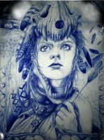 Artemis - ballpoint pen by britolitos96
