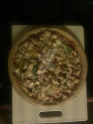 Homemade Buffalo Chicken Pizza with PeperJack by Shirowe