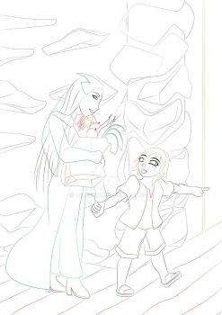 [WIP] Mother and son by Lyle127A