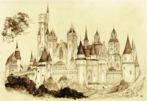 Redwall Abbey Castle by FairytalesArtist