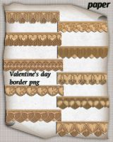 Valentine's day paper border by roula33