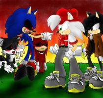 sonic EXE vs cris and zizors by SonicXstar