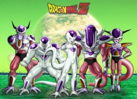 Dragon ball z las formas de Freezer en Namek by Wilson-Adrian