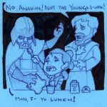 Crumbs are Coarse, Rough, and Irritating Doodle by Leowulf067