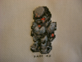 Dark-Ax Cross Stitch by Metalbobinou