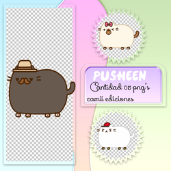 Pack Pusheen. PNG by CaamiTinista