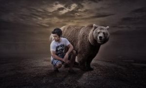 Bear and Hass by hasshasib001
