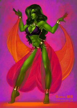 She-Hulk commission by SoniaMatas