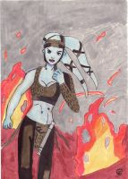 Aayla Secura In The Fire by Giorgia99