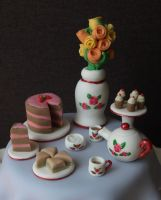 Afternoon Tea Cake Toppers by sparks1992