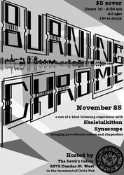 Burning Chrome event poster by synescape