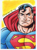 Superman sketch card by CharlesEttinger