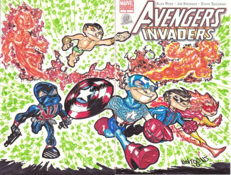 invaders by kevtoons