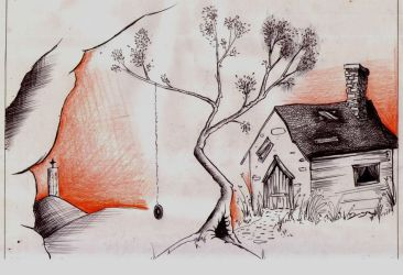 House and tree by DivineBurns