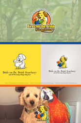 Dog and Parrot Logo concept by DianaGyms