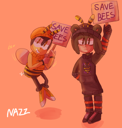 commish: bee movie 2 (outfit by asb-fan on tumblr) by nazzeroid
