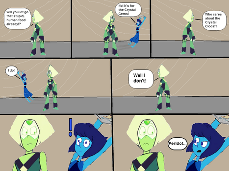 Lapis and Peridot- Sponge Pizza Scene by ToonEmpire24