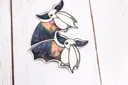 Galaxy Bat Sticker by BeeZee-Art