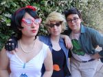 Jane, Dirk and Jake (Homestuck) Carpicon 2017 by Groucho91